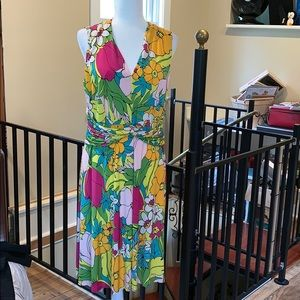 EUC Adrianna Pappell Floral Dress